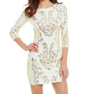 B Darlin Juniors Gold Sequin Dress Size 11/12